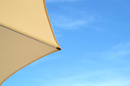 Top of a Colorful Beach Umbrella against the Sky Reklamní fotografie