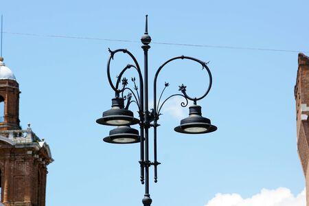 urban pole lamp Stock Photo