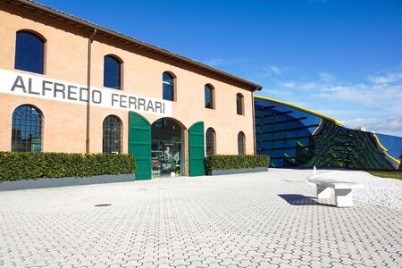 MODENA, ITALY - SEPTEMBER 9: Museum Casa Enzo Ferrari on September 9, 2013 in Modena. Museum was opened in March 201. Editoriali