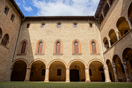 PARMA, ITALY - APRIL 2017 : interior view detail . The Rocca Sanvitale of Fontanellato stands, charming, in the center of the village, surrounded by a wide water-filled moat: it contains one of the masterpieces of Italian mannerism