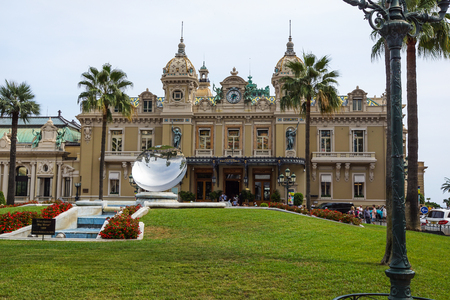 MONTE CARLO - August 15 2017: The Casino of Monte Carlo January 31, 2009 in Monte Carlo. It hosts the annual European Poker Tour