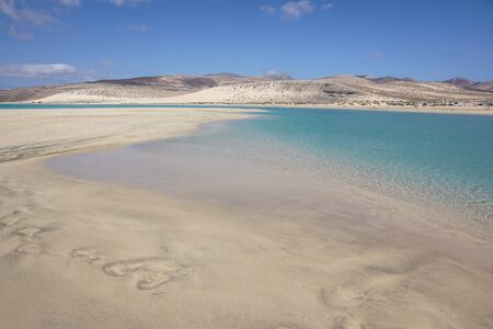 Canary Islands, Spain Sotavento Beach in Fuerteventura, Stock Photo