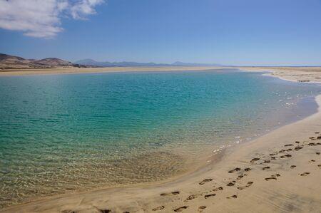 Canary Islands, Spain Sotavento Beach in Fuerteventura, Stock Photo