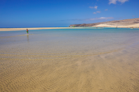 Jandia beach Risco el Paso Fuerteventura at Canary Islands of Spain