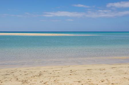 Ocean wave water on beautiful Jandia beach, Morro Jable, Fuerteventura, Canary Islands, Spain
