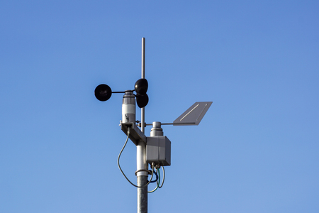 Devices meteorological station on the blue background of the sky Stok Fotoğraf