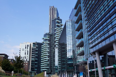 Milano Italy, 10th August 2017: Skyline Samsung District, Milano Porta Nuova - Italy Editorial