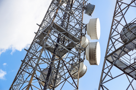 Cell phone antenna or aerial tower used for GSM and UMTS mobile phone transmissions