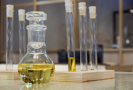 chemical laboratory glassware Stock Photo