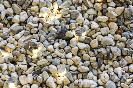 colorful Many Pebbles stone Big and small for texture background.