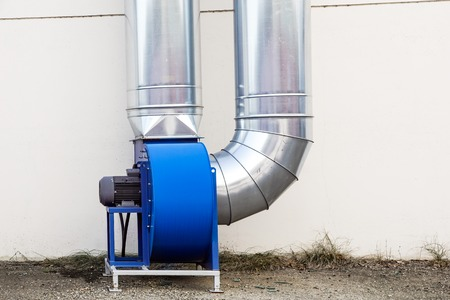 Industrial air conditioning systems . air turbine fan for ventilation Stock Photo