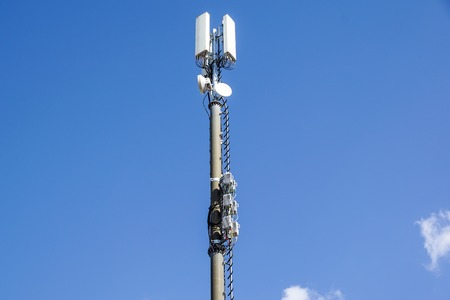 mobile phone communication repeater antenna. Mobile phone network antenna. Stock Photo