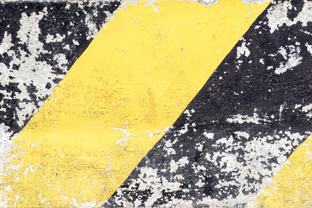Yellow line on asphalt road Banco de Imagens