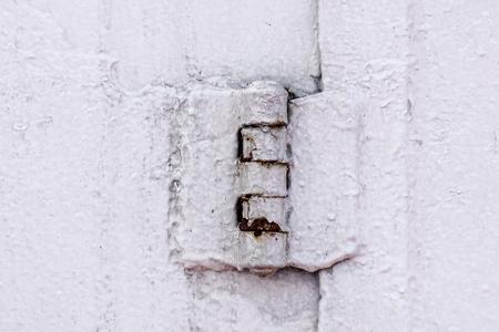 metal door hinge .Water tight door on a ship, Exit door, emergency door.