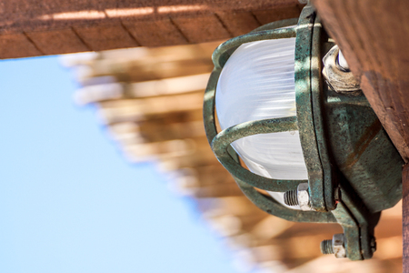 Ceiling light attach to the ceiling with little to no gap between the light fixture and ceiling Banco de Imagens