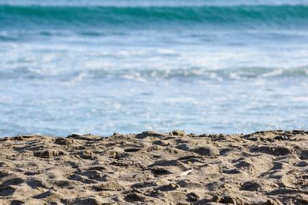 sea sand sky and summer day .close up . Banco de Imagens