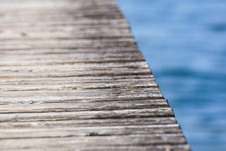 perspective of wooden planks .wood pier close up Banco de Imagens - 125478387