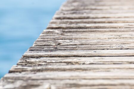 perspective of wooden planks .wood pier close up