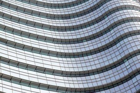 Abstract Modern Glass Financial Skyscraper Architecture Detail Banco de Imagens