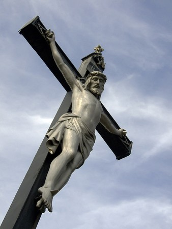inri: A statue of JEsus Christ crucified