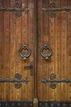 Orthodox church doorway of a St. Markos Church in Belgrade photo