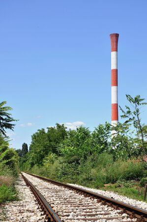 vanish: old railroad track lines vanish in perspective