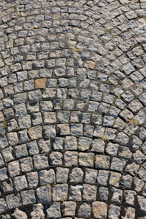 cobblestone street: Quality background image, texture of a cobblestone road Stock Photo