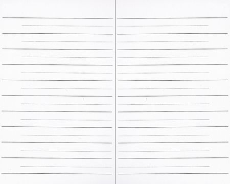 Paper pages texture with lines, from a notebook Stock Photo - 5631169