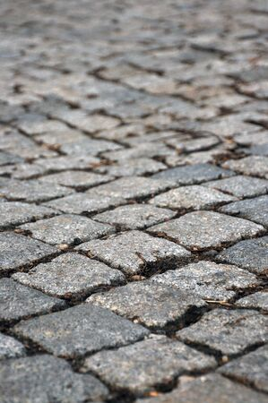 expedient: Quality background image, texture of a cobblestone road Stock Photo
