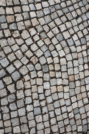 Quality background image, texture of a cobblestone road photo