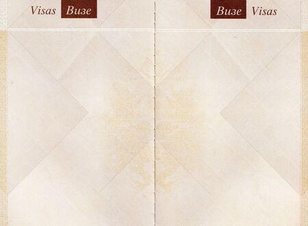passeport: Image haute r�solution d'un ancien passeport pages