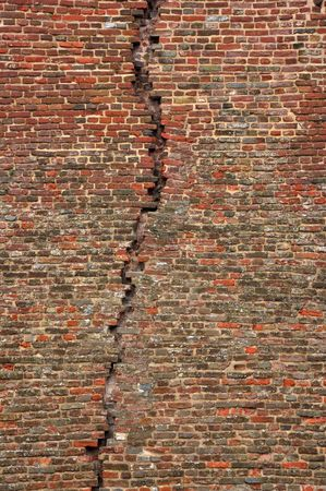 Abstract background of an obsolete, old grunge brick wall photo