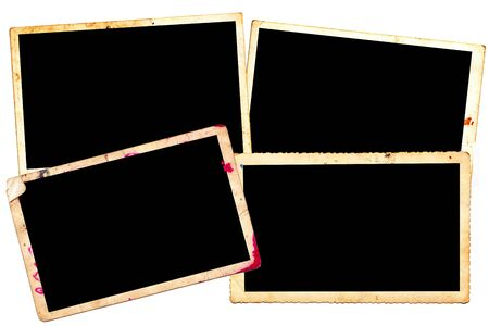 Abstract background, old photography frame isolated on black photo