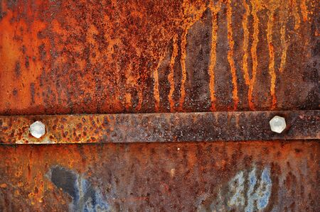 Grunge vintage rusty metal plate texture, backgound image photo