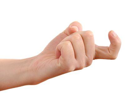 Female index finger crooked reckoning Stock Photo - 6495697