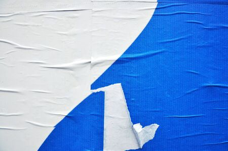 texture of a blue printed billboard paper, closeup Stock Photo - 6544156