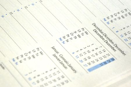 close up of a nice designed address book blank page stock photo
