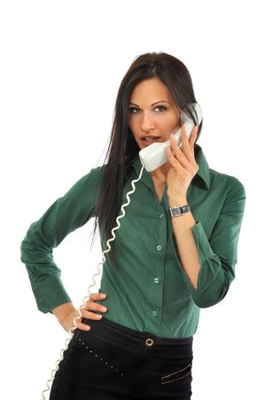 Young and beautiful woman talks on the phone Stock Photo - 6580972