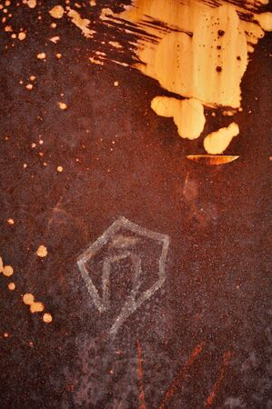 Grunge vintage rusty metal plate texture, backgound image Stock Photo - 6670355