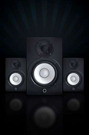 nicely: Nicely designed audio speakers, music equipment Stock Photo