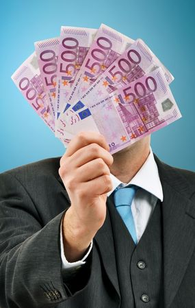 Business man is paying with euro banknotes, financial background Stock Photo - 6686278