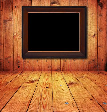 picture framing: Vintage wooden rusty room detail,wooden textured wall and blank picture frames