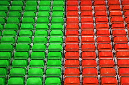 Empty plastic seats at stadium, opendoor sports arena. Stock Photo - 6978996