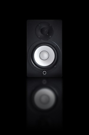 Nicely designed audio speakers, music equipment photo
