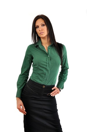 Young and beautiful business woman portrait photo