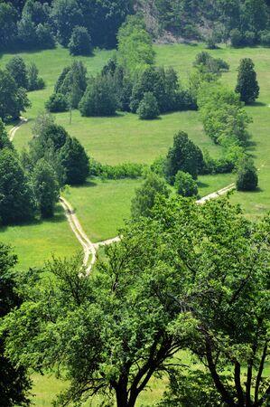 serbia landscape: natural landscape, detail from central Serbia