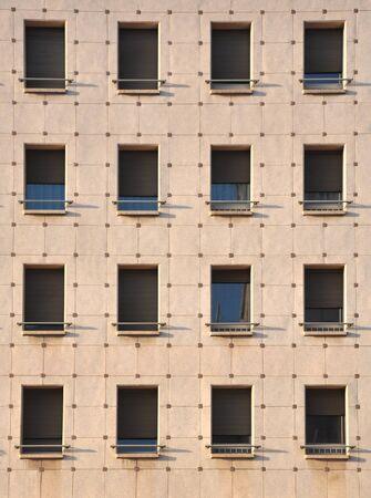 residental: Windows pattern, detail of a residental building