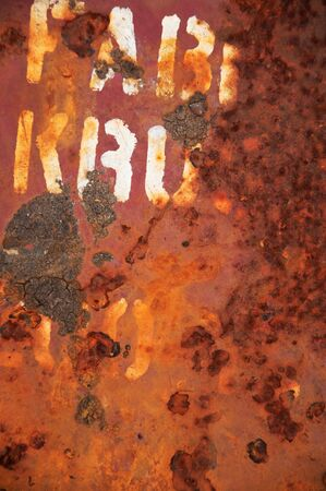 Grunge vintage rusty metal plate texture, backgound image Stock Photo - 7312221