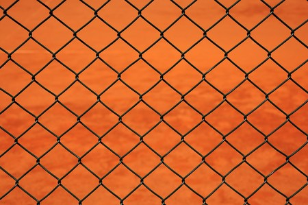 fense: Close up photography of a grid metal net fense. Stock Photo