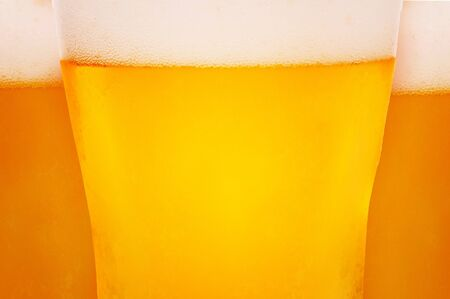 bier glazen: Close-up beeld van bier glazen.